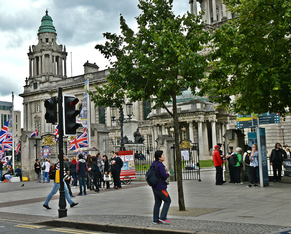 Downtown Belfast in Northern Ireland