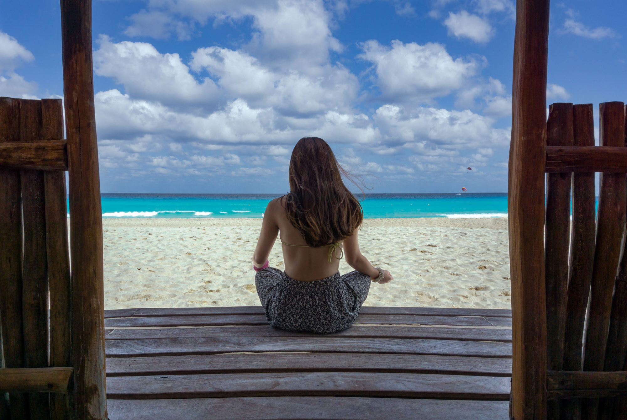girl on beach in cancun mexico via rick gonzalez on flickr